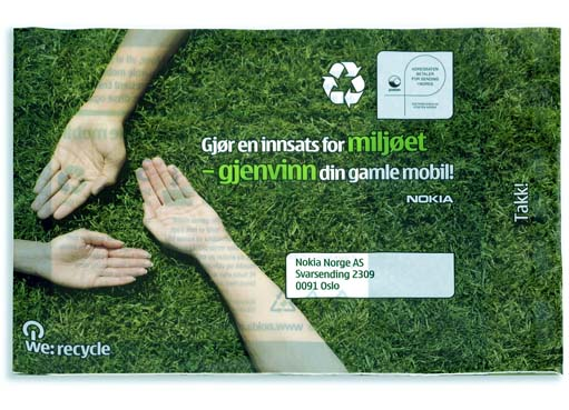 Nokia using Harmless Compost mailers